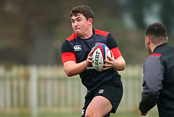 Beck Cutting of England Under 20s - Mandatory by-line: Robbie Stephenson/JMP - 09/01/2018 - RUGBY - England U20 - Training session ahead of Six Nations