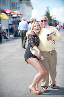 04/078/2013 Ricky McElhatten from Belfast and  Ciara Dickson from Ashborne Co. Meath at the last day of the  Galway Races. Picture:Andrew Downes