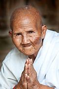 Buddhist nun, Angkor Wat, Siem Reap, Cambodia