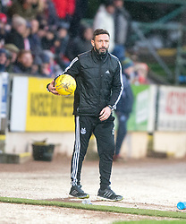 Aberdeen manager Derek McInnes. <br /> St Johnstone 3 v 4Aberdeen, SPFL Ladbrokes Premiership played 6/2/2016 at McDiarmid Park, Perth.