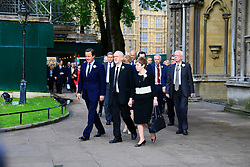 UK ENGLAND LONDON 20JUN16 - Prime Minister David Cameron with the leader of the opposition Labour Party Jeremy Corbyn and fellow parliamentarians pay their respects to murdered MP Jo Cox outside St. Margret's Church near Parliament Square, Westminster, London.<br /> <br /> jre/Photo by Jiri Rezac<br /> <br /> &copy; Jiri Rezac 2016