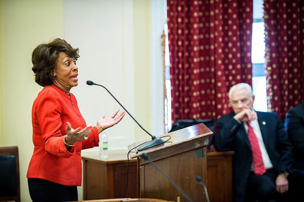 Rep. Maxine Waters (D-CA) speaks to CSBS members during the 2017 CSBS Fly-In on Capitol Hill in Washington, D.C. on March 30, 2017.