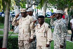 Veteran's Day Parade and Program at the Frankliin Delano Roosevelt Memorial Park in Charlotte Amalie.  St. Thomas.  11 November 2013.  © Aisha-Zakiya Boyd