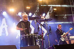 © Licensed to London News Pictures. 27/06/2015. Pilton, UK.  Slaves performing at Glastonbury Festival 2015 on Saturday Day 4 of the festival on the John Peel Stage stage.  This years headline acts include Kanye West, The Who and Florence and the Machine, the latter being upgraded in the bill to replace original headline act Foo Fighters. Photo credit: Richard Isaac/LNP
