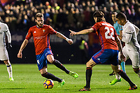 Club Atletico Osasuna's midfielder Fausto Tienza in action  during the match of La Liga between Club Atletico Osasuna and Real Madrid  at El Sadar Stadium in Pamplona, Spain. February 11, 2017. (ALTERPHOTOS/Rodrigo Jimenez)