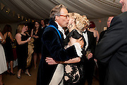 THE EARL OF MARCH; COURTNEY LOVE , The Goodwood Ball. In aid of Gt. Ormond St. hospital. Goodwood House. 27 July 2011. <br /> <br />  , -DO NOT ARCHIVE-© Copyright Photograph by Dafydd Jones. 248 Clapham Rd. London SW9 0PZ. Tel 0207 820 0771. www.dafjones.com.