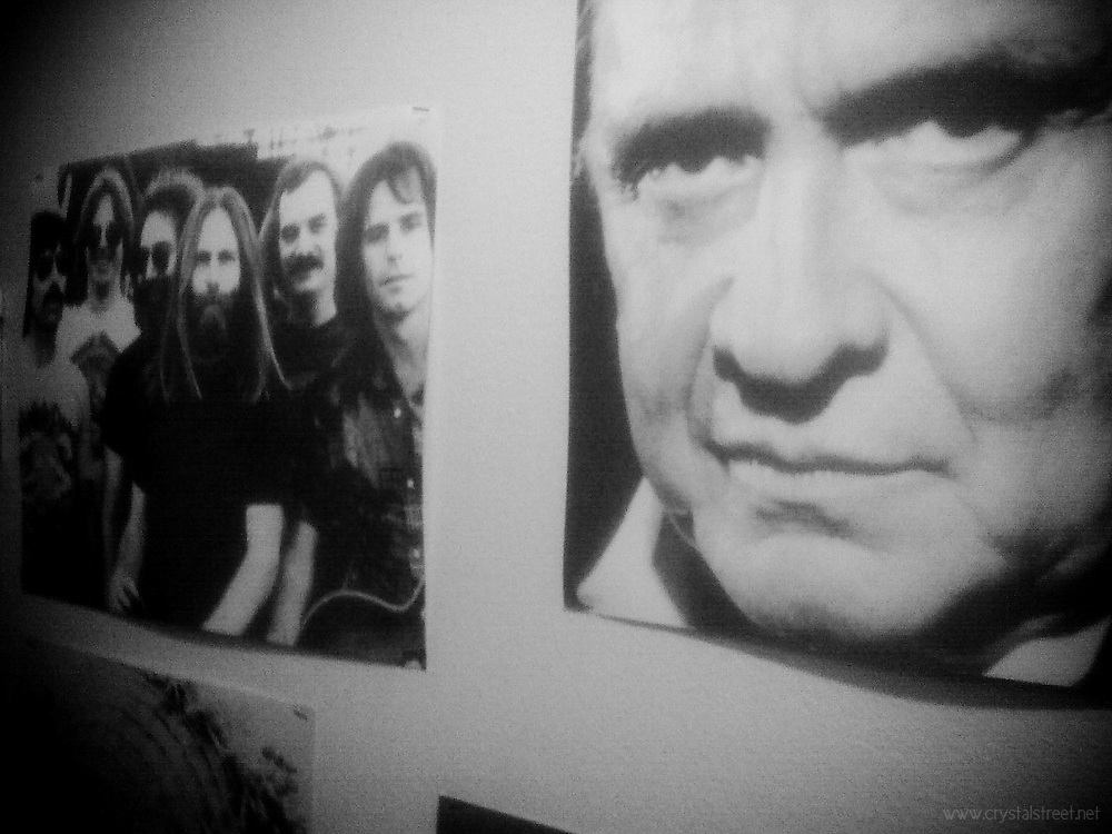 Johnny Cash and the Grateful Dead decorate the walls of the Eugene Whiteaker Hostel in Eugene Oregon. All of these images were taken with my Blackberry while on my first Walkabout around the West Coast. The photos can be seen on my blog, along with my prolific prose about the art of the Walkabout and the stories I found along the way, www.blog.crystalstreet.net