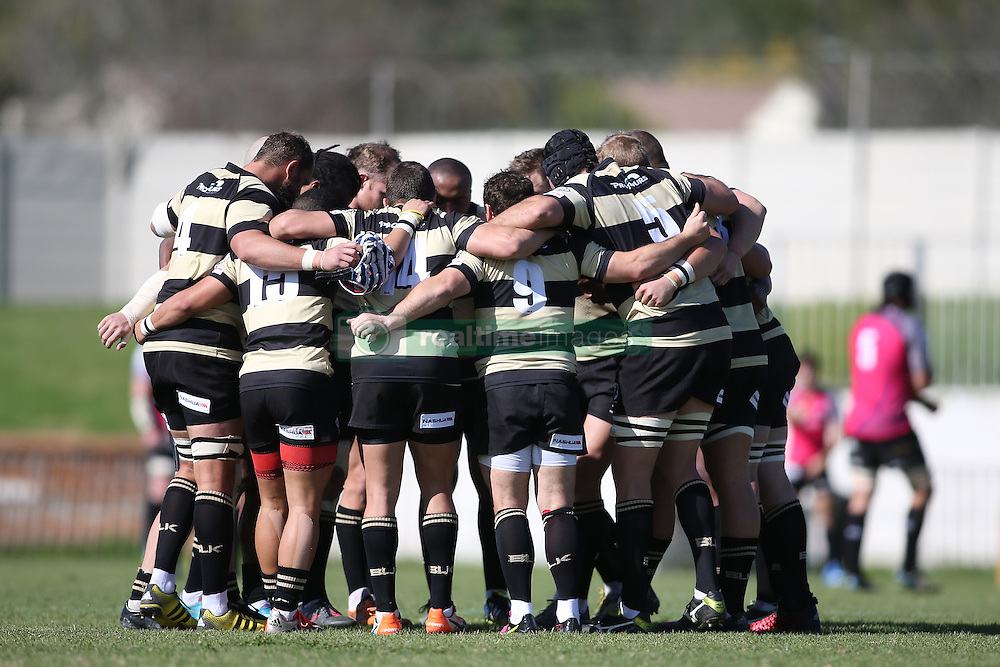 Boland huddle before kick off during the Currie Cup premier division match between the Boland Cavaliers and The Pumas held at Boland Stadium, Wellington, South Africa on the 2nd September 2016<br /> <br /> Photo by:   Shaun Roy/ Real Time Images