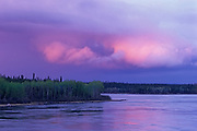 Sunset and storm over the Churchill River<br />