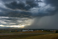 This severe thunderstorm rolled through Sheridan at the end of July, bringing heavy rain, strong winds, and hail. This was the view from the rest stop.