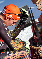29.01.2017, Casino Arena, Seefeld, AUT, FIS Weltcup Nordische Kombination, Seefeld Triple, Langlauf, im Bild Johannes Rydzek (GER) // Johannes Rydzek of Germany reacts after Cross Country Gundersen Race of the FIS Nordic Combined World Cup Seefeld Triple at the Casino Arena in Seefeld, Austria on 2017/01/29. EXPA Pictures © 2017, PhotoCredit: EXPA/ JFK