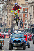 Moto Stunts international - The New Years Day parade passes through central London.