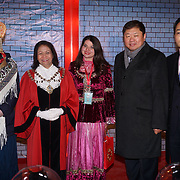 London,England,UK: 18th January 2016: Chinese delegate attends the 'Magical Lantern Festival' VIP Night with an all-new show transforming historic Chiswick House Gardens into a fairytale world of light sculptures, Chinese arts, Virtual Reality, games & food with a funfair and 600 square metres ice rink at Chiswick House Gardens  from January 19th - February 26th. by See Li