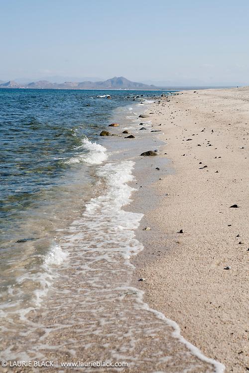 Tranquil beach scene in Baja