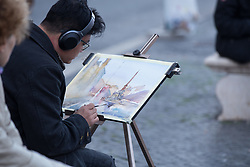 October 31, 2018 - Roma, RM, Italy - Street painter in Piazza Navona, Rome..Moments of life in Piazza Navona in Rome, on an autumn afternoon (Credit Image: © Matteo Nardone/Pacific Press via ZUMA Wire)