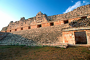 MEXICO, MAYAN, YUCATAN Uxmal, north side, Nunnery Quadrangle