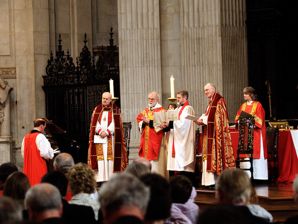 The Archbishop of Canterbury, Rowan Williams during the Consecration of the Bishop of Repton at St Paul's Cathedral.