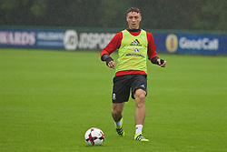 CARDIFF, WALES - Saturday, September 3, 2016: Wales' James Chester during a training session at the Vale Resort ahead of the 2018 FIFA World Cup Qualifying Group D match against Moldova. (Pic by David Rawcliffe/Propaganda)