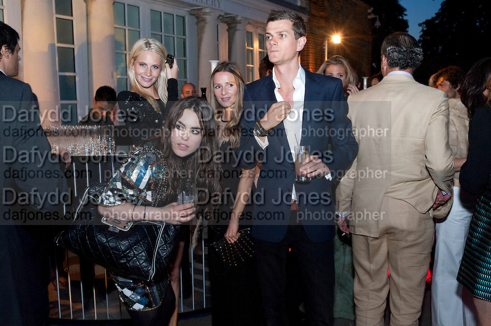TALLULAH ORMSBY-GORE; POPPY DELAVIGNE;  LORD ALEXANDER SPENCER-CHURCHILL. 2009 Serpentine Gallery Summer party. Sponsored by Canvas TV. Serpentine Gallery Pavilion designed by Kazuyo Sejima and Ryue Nishizawa of SANAA. Kensington Gdns. London. 9 July 2009.