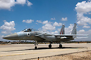 Israeli Air force F-15C Fighter jet on the ground