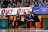 SYDNEY, NSW - JUNE 22: Giants coach Julie Fitzgerald during the round 9 Super Netball match between the Giants and the Vixens at Quaycentre on June 22, 2019 in Sydney, Australia. (Photo by Speed Media/Icon Sportswire)