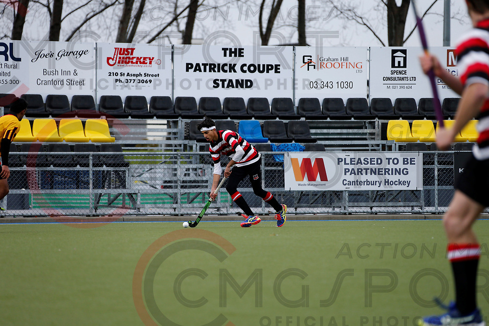 U18 BOYS CHAMPIONSHIP HOCKEY<br /> WAIKATO <br /> COUNTIES <br /> 20170712<br /> NUNWEEK PARK, Christchurch, New Zealand<br /> Photo Kevin Clarke CMGSPORT<br /> &copy;WWW.CMGSPORT.CO.NZ