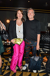 ANNE BERNECKER and MARKUS LUPFER at the launch of Giovanni's Gin Joint at Quaglino's, 16 Bury Street, London on 13th July 2016.