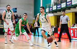 5# Paolo Marinelli of KK Krka Novo mesto, during the basketball match of Nova KBM League between KK Petrol Olimpija Ljubljana and KK Krka Novo mesto, on February 27, 2019, in Novo mesto, Slovenia. Photo by Urban Meglic / Sportida