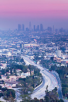 Highway 101 Leading To Downtown, Los Angeles, California