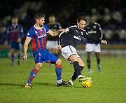 30th January 2018, Tulloch Caledonian Stadium, Inverness, Scotland; Scottish Cup 4th round replay, Inverness Caledonian Thistle versus Dundee; Dundee's Scott Allan and Inverness Caledonian Thistle's Iain Vigurs