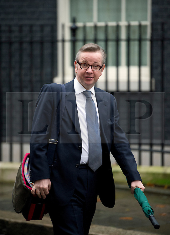 © London News Pictures. 21/11/2012. London, UK.  Secretary of State for Education Michael Gove leaving number 10 Downing Street  on November 21, 2012. Photo credit: Ben Cawthra/LNP