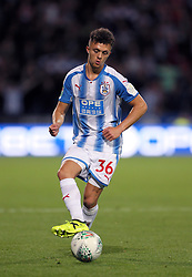 """Huddersfield Town's Jordan Williams during the Carabao Cup, Second Round match at the John Smith's Stadium, Huddersfield. PRESS ASSOCIATION Photo. Picture date: Wednesday August 23, 2017. See PA story SOCCER Huddersfield. Photo credit should read: Richard Sellers/PA Wire. RESTRICTIONS: EDITORIAL USE ONLY No use with unauthorised audio, video, data, fixture lists, club/league logos or """"live"""" services. Online in-match use limited to 75 images, no video emulation. No use in betting, games or single club/league/player publications."""