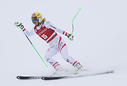 01.12.2017, Lake Louise, CAN, FIS Weltcup Ski Alpin, Lake Louise, Abfahrt, Damen, im Bild Cornelia Huetter (AUT) // Cornelia Huetter of Austria reacts during the ladie's downhill of FIS Ski Alpine World Cup at the Lake Louise, Canada on 2017/12/01. EXPA Pictures © 2017, PhotoCredit: EXPA/ SM<br /> <br /> *****ATTENTION - OUT of GER*****
