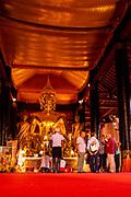 Interior view of Wat Wisunarat (Wat Visoun), a Buddhist temple in Luang Prabang, Laos.