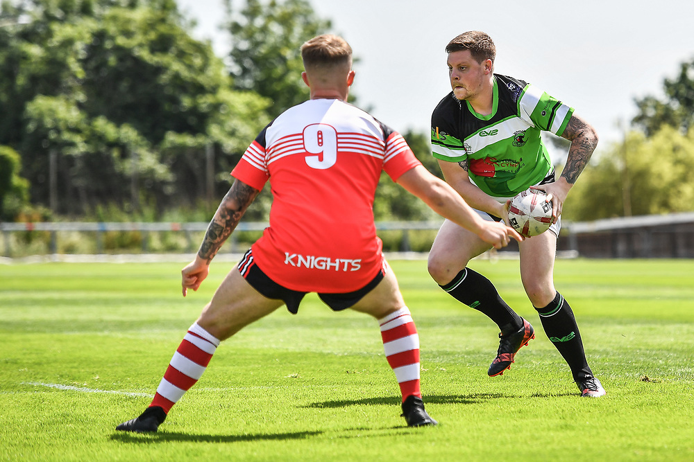 Llanelli Knights v Rhondda Outlaws<br /> <br /> Photographer Craig Thomas/Replay Images<br /> <br /> Welsh Premier League - Llanelli Knights v Rhondda Outlaws  - Saturday 23th June 2018 - Stebonheath Park - Llanelli<br /> <br /> World Copyright © 2017 Replay Images. All rights reserved. info@replayimages.co.uk - www.replayimages.co.uk