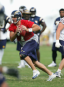 SAN DIEGO - JUNE 10:  Quarterback (free agent acquisition from the Miami Dolphins) A.J. Feeley #7 of the San Diego Chargers works out during minicamp at the San Diego Chargers Park practice field on June 10, 2006 in San Diego, CA. ©Paul Anthony Spinelli *** Local Caption *** A.J. Feeley