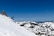 Spring skiing Squaw Valley Emigrant Bowl