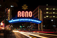 Reno Arch at Night, Reno, Nevada