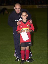 DALE WATKINS AND MASCOT HEREFORD GAME 2002  Kettering Town v Hereford United Rockingham Road  24th September 2002