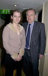 MISS ADELA BOTTOMLEY and her father MR PETER<br />  BOTTOMLEY MP at a reception in London on 8th May 2000.<br /> ODM 24