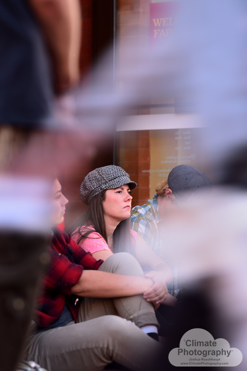 11/15/2016, Boulder, Colorado, Pearl Street Mall County Courthouse and Wells Fargo Branch.  These were two peaceful protests with music and speeches to rally people to say no to the Dakota Access pipeline (#NoDAPL).  From www.nodaplsolidarity.org website: <br /> <br /> The &ldquo;Dakota Acces&rdquo; Pipeline (DAPL) is a $3.8B, 1,100 mile fracked-oil pipeline currently under construction from the Bakken shale fields of North Dakota to Peoria, Illinois. DAPL is slated to cross Lakota Treaty Territory at the Standing Rock Sioux Reservation where it would be laid underneath the Missouri River, the longest river on the continent.<br /> <br /> Construction of the DAPL would engender a renewed fracking-frenzy in the Bakken shale region, as well as endanger a source of fresh water for the Standing Rock Sioux and 8 million people living downstream. DAPL would also impact many sites that are sacred to the Standing Rock Sioux and other indigenous nations.<br /> <br /> The DAPL is a massive project being organized by a shady group of the world&rsquo;s largest fossil-fuel companies and banks. They have offices in cities around the world. Putting direct, nonviolent pressure on the corporations building and funding this project is critical for supporting frontline resistance to DAPL.  <br /> <br /> Wells Fargo is listed as a &quot;secondary target&quot; on the website.