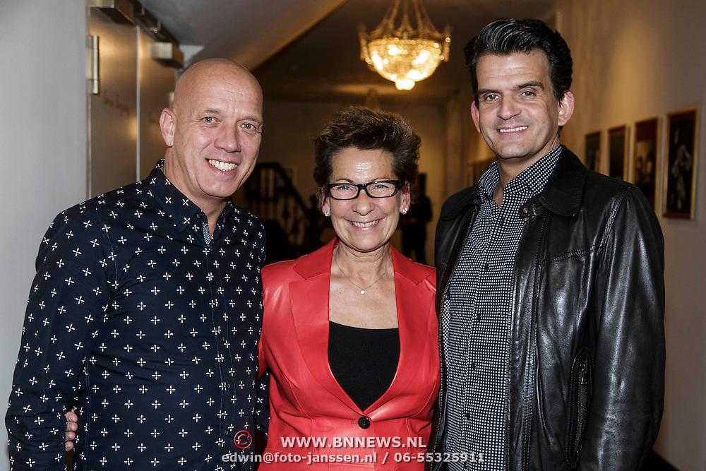 NLD/Amsterdam/20150206 - Fedde le Grand opening Grand int Carre Amsterdam, Janine van den Ende - Klijburg met Maurice Wijnen en partner Ronald den Ouden
