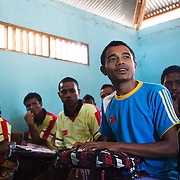 "BA Futuru means ""for the sake of the future"" in Tetun, the national language in Timor Leste. BA Futuru grew out of the fightings in 2006 where civil unrest and infighting between police and army caused massive damages and thousands of killed. BA Futuru wants to prevent future conflicts through training children, youths and authorities like staff at schools and police in conflict resolution. This class high school students have been through 4 days of conflict resolution workshop run by Ba Futuro. Raul is explaining how it has chenged their every day at school, they no longer fear their teachers and they can now manage their own conflicts better, also at home in the community."