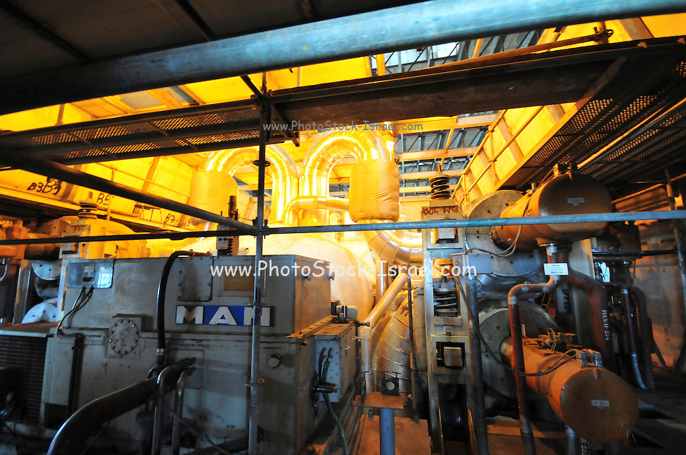 Israel, Hadera, The Orot Rabin coal operated power plant interior of an Electricity production facility
