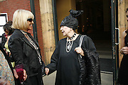 Barbara Hulanicki and Molly Parkin. The Biba Ball in aid of CLIC Sargent. Victoria & Albert Museum, London. 11 May 2006.ONE TIME USE ONLY - DO NOT ARCHIVE  © Copyright Photograph by Dafydd Jones 66 Stockwell Park Rd. London SW9 0DA Tel 020 7733 0108 www.dafjones.com