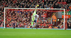 West Bromwich Albion's Boaz Myhill doesn't mange to save Liverpool's Daniel Sturridge shoot. Photo mandatory by-line: Alex James/JMP - Tel: Mobile: 07966 386802 26/10/2013 - SPORT - FOOTBALL - Anfield Stadium - Liverpool - Liverpool v West Brom - Barclays Premier League