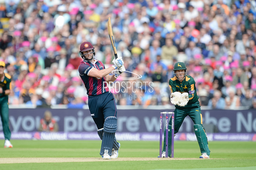 Alex Wakely of Northants Steelbacks batting during the NatWest T20 Blast Semi Final match between Nottinghamshire County Cricket Club and Northamptonshire County Cricket Club at Edgbaston, Birmingham, United Kingdom on 20 August 2016. Photo by David Vokes.