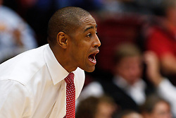 Nov 14, 2011; Stanford CA, USA;  Fresno State Bulldogs head coach Rodney Terry on the sidelines against the Stanford Cardinal during the first half of a preseason NIT game at Maples Pavilion. Mandatory Credit: Jason O. Watson-US PRESSWIRE