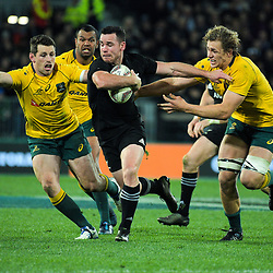 Ryan Crotty in action during the Rugby Championship and Bledisloe Cup rugby match between the New Zealand All Blacks and Australia Wallabies at Forsyth Barr Stadium in Dunedin, New Zealand on Saturday, 26 August 2017. Photo: Dave Lintott / lintottphoto.co.nz
