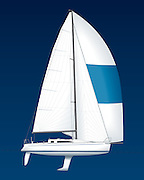 carroll marine sailboat 395 profile plan with full sail plan